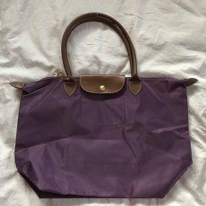 longchamp purple tote